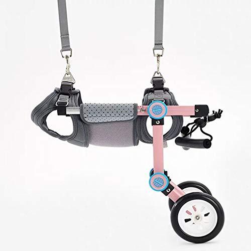 Rehabilitación De Perros Discapacitados Silla De Ruedas Ajustable Silla De Ruedas para Mascotas Paralizada Scooter para Discapacitados para Mascotas Pequeñas,Rosado,M