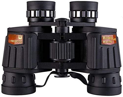 Stella Fella Monokulare Binokel DM-4 10x50 Binocular Feinabstimmung, High-Definition High-Power, Low-Light-Nachtsicht-Teleskop, HD BAK4 wasserdichte Fischen Wandern Vogelbeobachtung Ozean Schwarz Farb