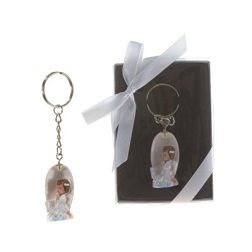 "Price comparison product image Lunaura Religious Keepsake - Set of 12""Girl"" Baby Angel Praying Key Chain Favors - Pink"