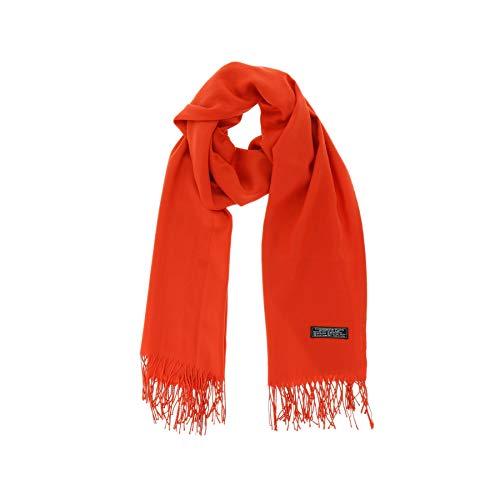 FASHIONGEN - Damen und Herrren, Pashmina-Schal aus Wolle, BACHRA - Orange