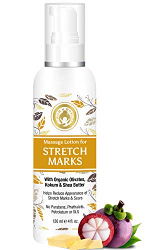 Mom & World Massage Lotion For Stretch Marks -120ml – With Organic Olivates, Kokum & Shea Butter