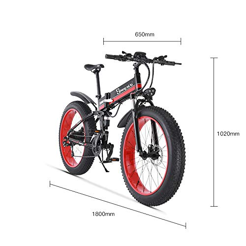 SHIJING 1000W Ebike 2019 New Electric Beach Bike Motorslee helpende mountainbike Off Bike Roller Fury lithium stroom -Road
