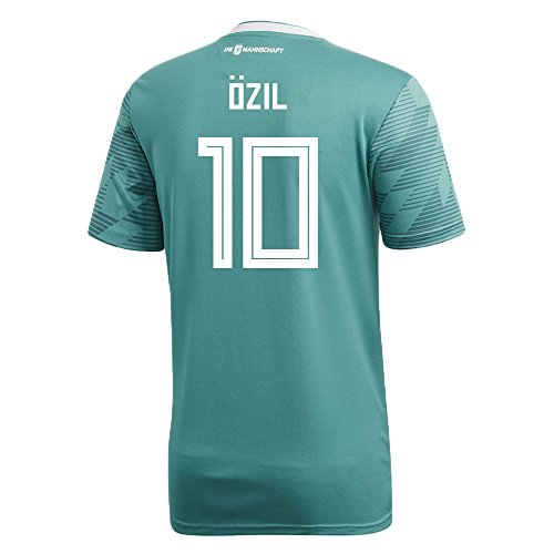 adidas Ozil #10 Germany Away Soccer Stadium Men's S/S Jersey World Cup Russia 2018 (XL)