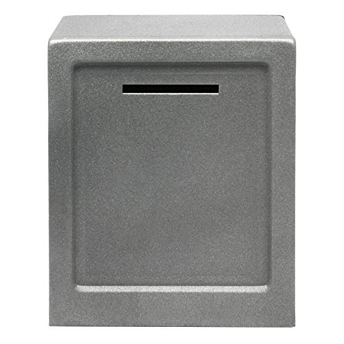 HMF 306-09 Minitresor Zahlenkombinationsschloss, 13,5 x 11,0 x 8,0 cm, Silber grau