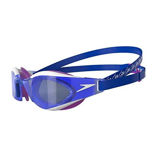 Speedo Fastskin Hyper Elite Gafas de natación, Unisex-Adult, Blue Flame/Diva/Blanco, Einheitsgröße