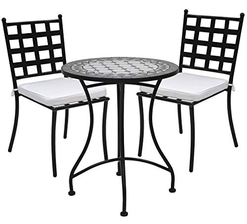 Desconocido Ensemble de chaises de jardin et table circulaire vert