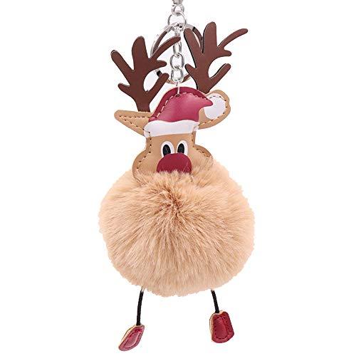 N-K Weihnachtsschlüsselring Weihnachtsmann Weiche Plüschkugel Ornament Anhänger Schlüsselbund Hängende Puppe Frauen Mädchen Robust und kostengünstig