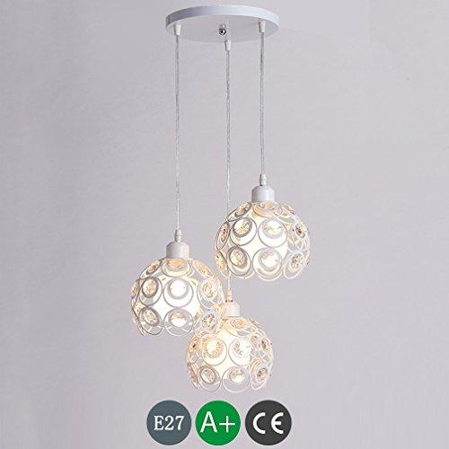 3 x E27 lamp kroonluchter in hoogte verstelbaar hanglamp eettafellamp modern minimalistisch kristal hanger hanglamp binnen plafond lamp verlichting hanglamp eetkamer baard kantoor café