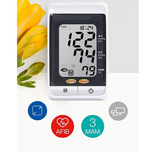 YBZS Digitales Oberarm-Blutdruckmessgerät,Automatische Elektronisches Blutdruckmessgerät BP3MS1-4V Armart Intelligentes Blutdruckmessgerät Für Zuhause Vorhofflimmern