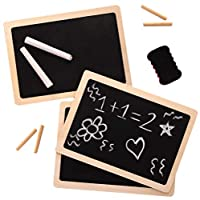 Fun for all: Creative kids will love practising numbers, letters, drawings & designs on our retro boards Easy to use: The wood framed surface works great for drawing, doodling, creating and starting again Versatile and reusable: use for art, learning...