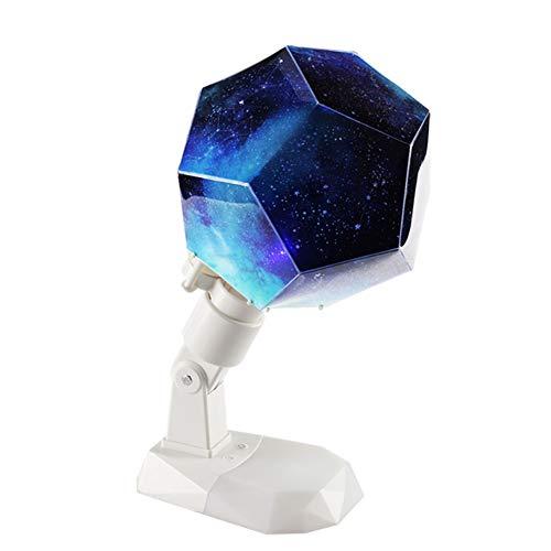 MAGICE Romantique Lumières étoilées Lampes tournantes Douze Constellations Veilleuse Créatif Lampe de Chevet USB Cadeau pour la Saint Valentin,White