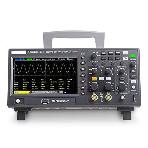 Osciloscopio Digital Dual Canal Osciloscopio Económico DSO2C10 100MHz Mango de Mano de Mano con Fuente de señal