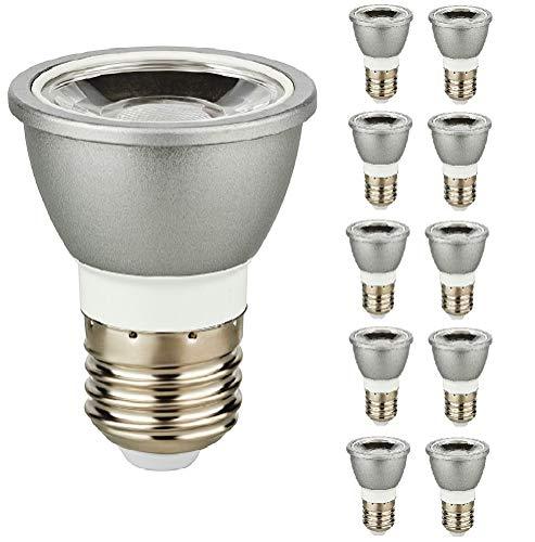 10er Packung 6W LED E27 6 Watt Strahler 230V Spot Lampe Schraubsockel 600 Lumen warmweiß 252