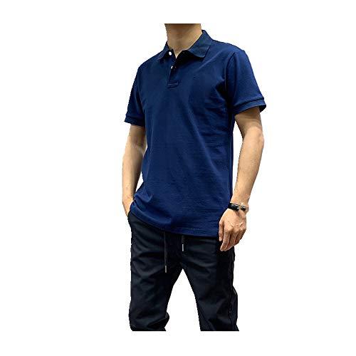 Casual heren effen katoenen trui korte mouw los staan kraag heren T-Shirt