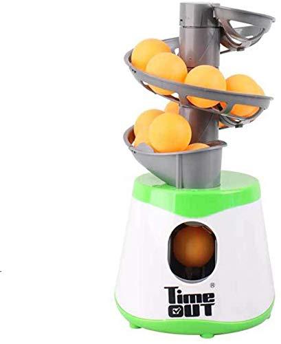 J & J Mesa de la máquina de la Bola de Ping Pong, Ping Pong Mesa de Ping Pong Lanzador de Bolas Máquinas automáticas de lanzar Bolas con 10 Bolas de los Deportes Trainer Accesorios