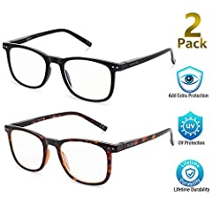 【We Save Your Eyes From Strain】:AOSM ANTI BLUE LIGHT GLASSES is upgraded from normal computer glasses,Perfect for you who uses computer and phones all day for work and was complaining of eye fatigue and pain, redness. You will notice a difference.The...
