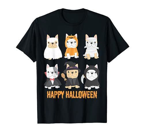 Happy Halloween Pug Dogs Cute French Bulldog Lover Gifts T-Shirt