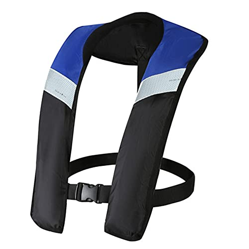 Chaleco salvavidas inflable, chaleco de vida inflable automático/manual para adultos,Azul