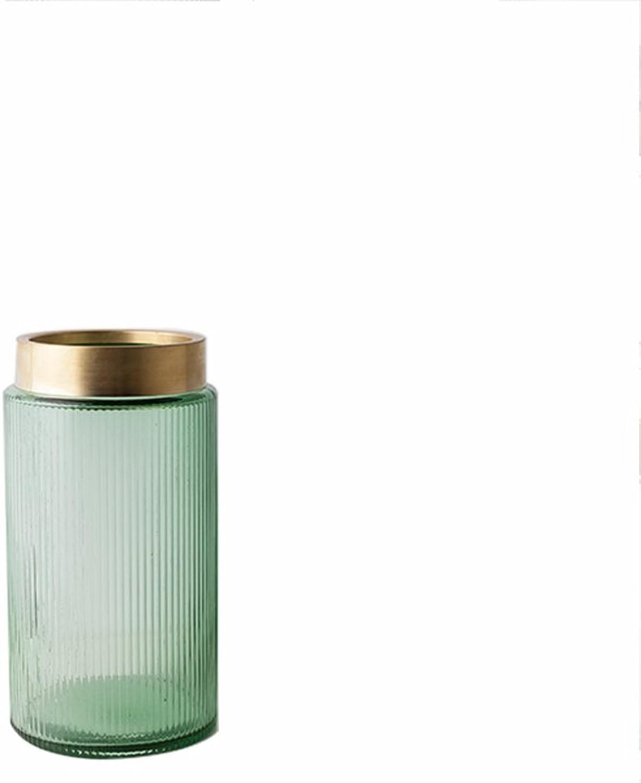 Vase WQQ Moderne Minimaliste Verre Transparent Creative Salon Entrée Hydroponique Grand Diamètre Plug (Couleur   D)