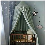 Betthimmel Baldachin für Kinderzimmer Bettvorhang Babyzimmer Deko Spiel Zelt Schlafzimmer Moskitonetz für Kinderbett Grau(Höhe:2.5M)