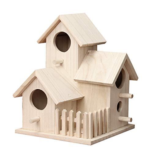 TIREOW Nest Haus Vogelhaus Outdoor Vogelbox Holzbox Spielzeug Anhänger für Büro Wohnzimmer Dekor