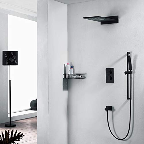 Learn More About Lifting Rod Waterfall Square Top Spray Belt Faucet 4 Function Modern Copper Conceal...
