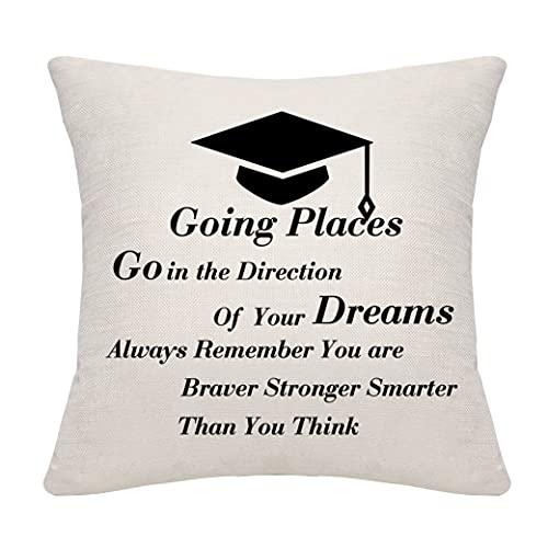 Dankhra, federa per cuscino per laurea e laurea, idea regalo per anziani, università e laurea