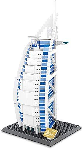 spinning Bloques de construcción para niños, un símbolo de la Ciudad de Dubai hoteles de Vela 1307 + PC Nano Mini-Kits de construcción de Bloques de Regalos DIY Juguetes educativos de los ni.