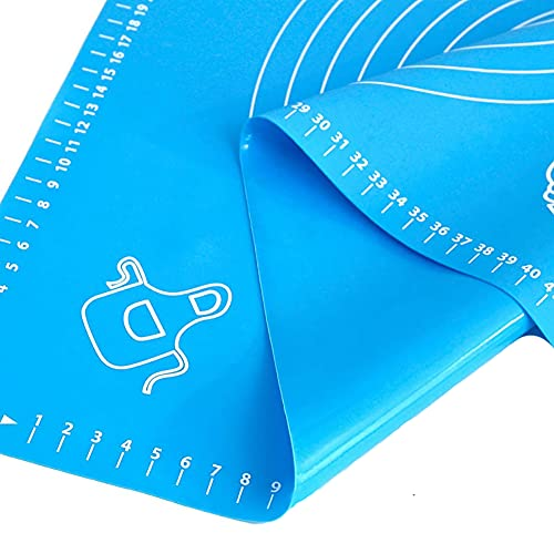 Silicone Baking Mat with Measurements - LARGE 17.7 x 25.2 | Non Slip Non Stick | for Pastry Rolling - Multipurpose Mat