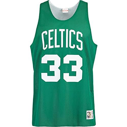 Mitchell & Ness Larry Bird Boston Celtics - Camiseta de tirantes reversible,...