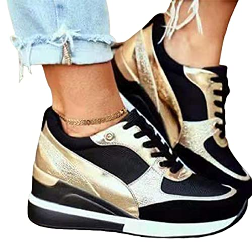 ASDFK Basket Eva Glow High Heeld Wedge - Zapatillas de tacón alto para mujer con plataforma, informales, para uso diario