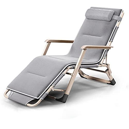 Faltbare Zero Gravity Reclining Lounge Chairs Outdoor Beach Patio - Stahlrahmen 600D Oxford Camping Kinderbett Chaise Bed mit abnehmbaren Kissenstützen 440Lbs