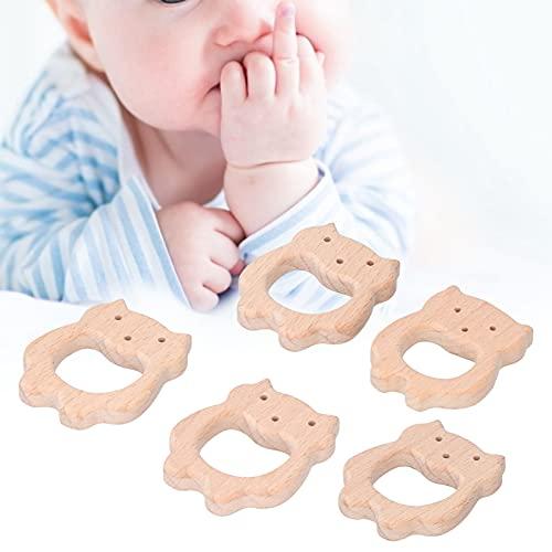 Eosnow Colgante de Bricolaje, mordedor de bebé único en Forma de Oso para Que los bebés mastiquen y muerdan