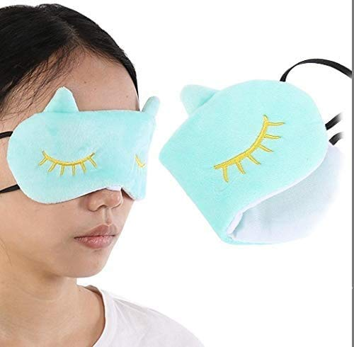 Mooie Cartoon Cat Eye Shade Blindfold, 3 kleuren schattige dieren Cover Eye slaapmasker, Shade zachte pluche Eye Cover Rest Eyepatch, slaapmasker for pyjama of Games Party Slapen Travel (1#) lsmaa