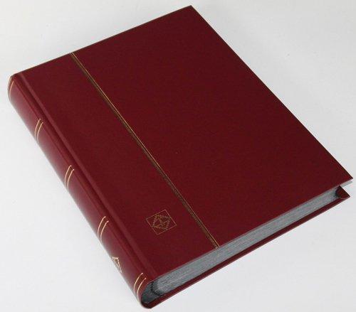 Leuchtturm 64 Schwarze Seiten Einsteckbuch Briefmarkenalbum Einband weinrot