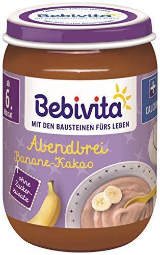 Bebivita Abendbrei Banane-Kakao, 6er Pack (6 x 190 g)