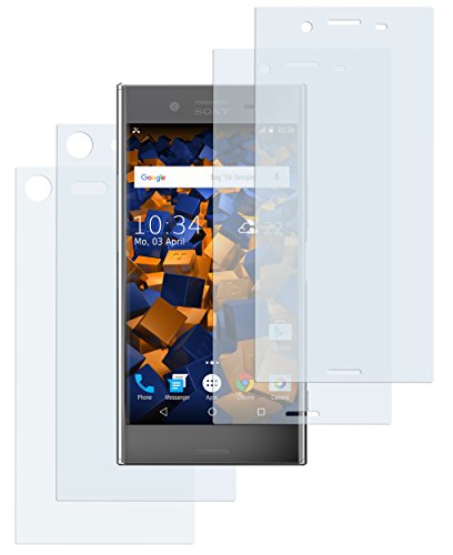mumbi Schutzfolie kompatibel mit Sony Xperia XZ Premium Folie klar, Bildschirmschutzfolie (4X)