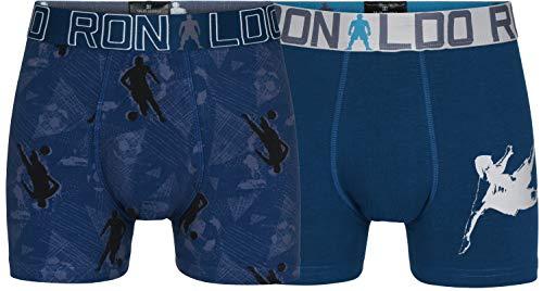 CR7 Cristiano Ronaldo Jungen Boys Cotton Fashion Trunks Two Pack Badehose, Marineblau/Marineblau, 140