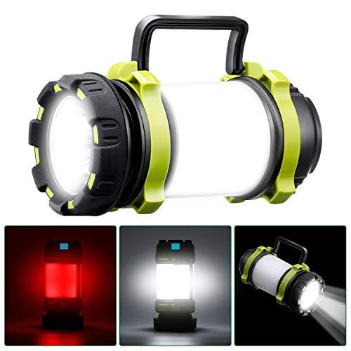 SGODDE Lampe de Camping LED Rechargeable, 1000...