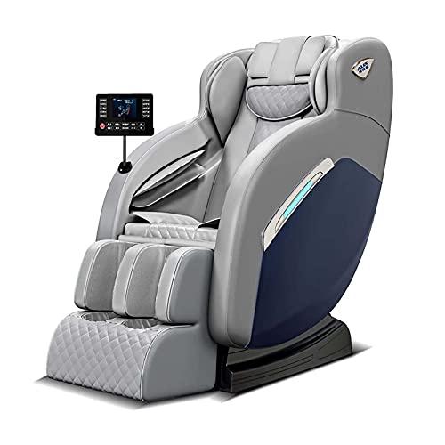 Intelligenter Massagestuhl, elektrischer Null-Gravity-Shiatsu-Massagestuhl, mit Heizungs- und Rollen, für Heim- und Büro, professioneller elektrischer Massagestuhl,