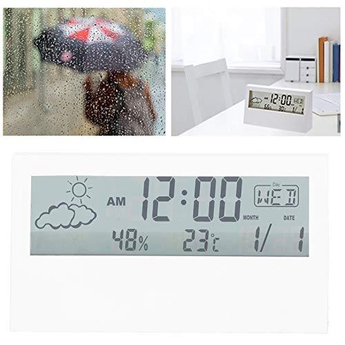 FOLOSAFENAR Reloj Digital, ABS Material Respetuoso con el Medio Ambiente Reloj electrónico Resistente al Desgaste Pantalla Digital Grande para mesita de Noche