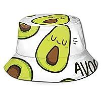 このアボカドの漁師の帽子、フルプリント、折りたたみ式の帽子、日よけ帽、バケツの帽子を印刷してください。釣り、旅行、外出、買い物などに適しています。