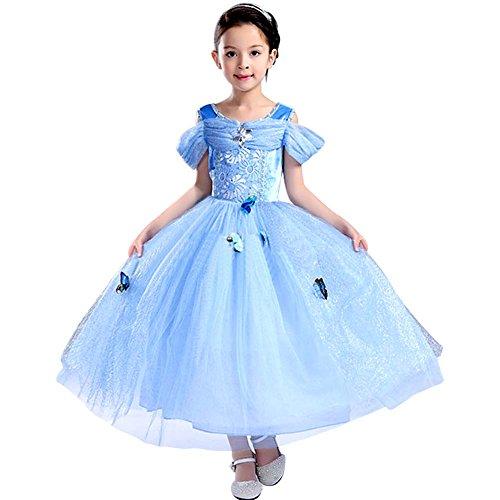 Tacobear Costume da ragazza della principessa di Cenerentola delle ragazze Vestito da ragazza della farfalla del vestito operato dal partito di Halloween (6~7T)