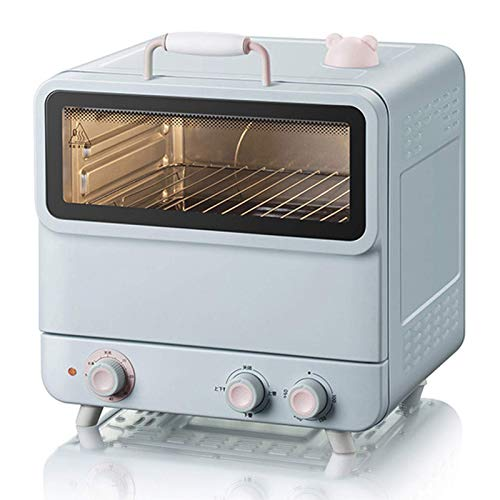 Riyyow Horno eléctrico pequeño para el hogar, Vapor Multifuncional y máquina de Hornear para Hornear automática Pastel de Hornear, 20 L, 1200W, 60 min. Temporizador