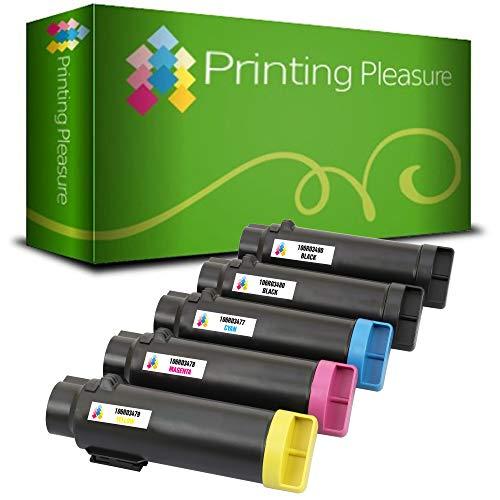 5 Toner kompatibel für Xerox Phaser 6510 6510DN 6510N WorkCentre 6515 6515DN 6515DNI 6515DNW 6515N 6515NW | 106R03480 5.500 Seiten 106R03477 106R03478 106R03479 2.400 Seiten