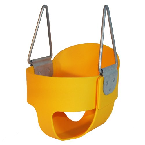 High Back Full Bucket Toddler Infant Swing Seat - Seat Only - Yellow