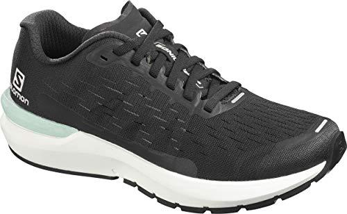 Salomon Damen Shoes Sonic Laufschuhe, Schwarz (Schwarz/Weiß/Leiser Farbton), 38 2/3 EU