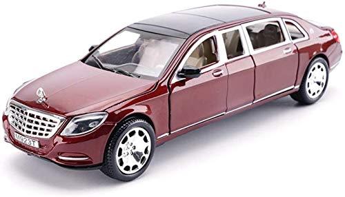 hclshops Modelo del Coche 1,24 Mercedes-Benz Maybach S600 Simulación de aleación de fundición a presión de Joyas de Juguete colección de Coches Deportivos joyería 32x12x8CM (Color, Negro), Negro