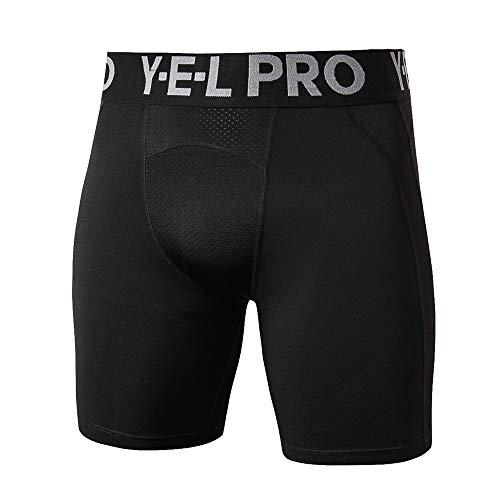 Shorts Deportivos Ajustados Para Hombre Cortocircuitos de la compresión pantalón corto de entrenamiento aptitud de los hombres Running elástico de secado rápido de malla transpirable medias multicolor