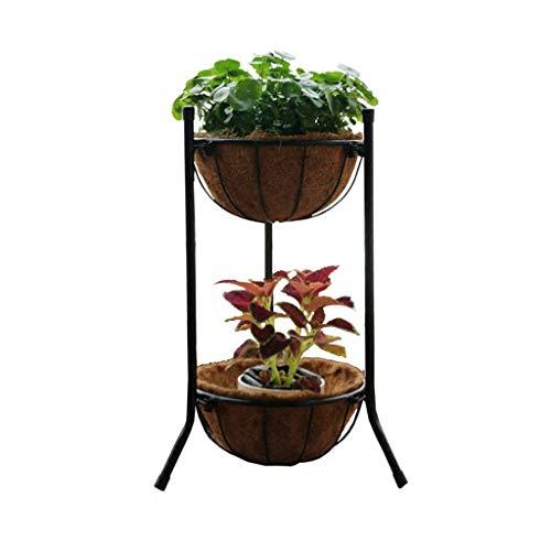 PLLP Hauptbalkon-Betriebsstand, Blumen-Stand, der Regal-Gemüsetopf Ironrt multi Schicht Indoornd Balkon-Betriebsstände im Freien pflanzt